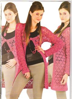 Tita Carré - Agulha e tricot by Tita Carré: Crochet - Casacos Longos
