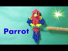 How to Make a Rainbow Loom Parrot Macaw Charm. This Parrot Macaw Rainbow Loom Charm is really colorful and cute. You can pick your colors to make it a Parrot, Macaw or any other kind of exotic bird Rainbow Loom Tutorials, Rainbow Loom Patterns, Rainbow Loom Creations, Rainbow Loom Bands, Rainbow Loom Charms, Rainbow Loom Bracelets, Loom Band Animals, Rainbow Loom Animals, Loom Love