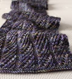 Lacy Lady Scarf pattern by Leah Michelle Designs. malabrigo Arroyo Superwash wool, Candombe color.