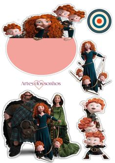 Brave Disney, Journaling, Stickers, Movie Posters, Ideas, Brave Cakes, Brave Merida, Joker Card, Lawyer