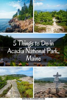 5 Things to Do in Acadia National Park,Maine - Park Loop Road, Jordan Pond, Cadillac Mountain and much more...
