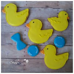 Duck cookies Duck Cookies, Cookie Cutters, Desserts, Food, Tailgate Desserts, Dessert, Postres, Deserts, Meals