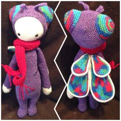BUZZ the house fly made by Sara G. / crochet pattern by lalylala