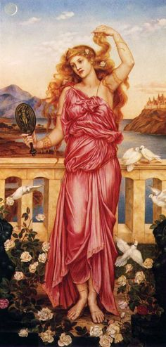 Evelyn De Morgan : Helen of Troy  //  In Greek mythology, Helen of Troy, also known as Helen of Sparta, was the daughter of Zeus and Leda, and was a sister of Castor, Pollux, and Clytemnestra. In Greek myths, she was considered to be the most beautiful woman in the world. Her abduction by Paris brought about the Trojan War.