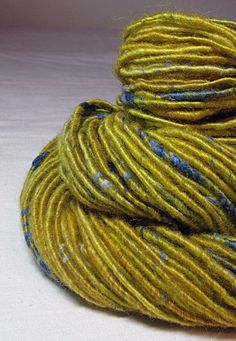 Handspun Art Yarn Corespun Sheeping Beauties  by SheepingBeauty. , via Etsy.