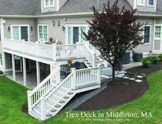 """@Kim Bosman Ray Two story deck for walk out basements...  Beautiful and it doubles your """"deck"""" space too and provides covered shelter for rainy days too."""