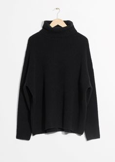 & Other Stories image 2 of High Neck Sweater in Black