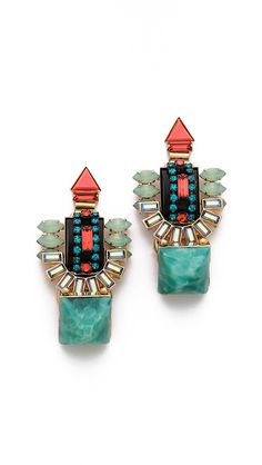 Elizabeth Cole Large Drop Earrings   $288.00 Color: Jet Multi