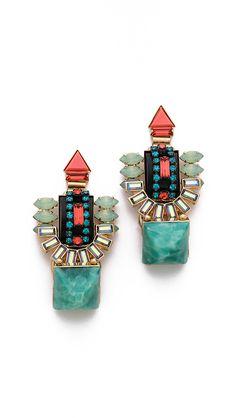Elizabeth Cole Large Drop Earrings   $288.00 Color: Jet Multi