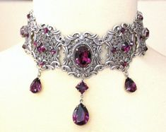 Victorian choker bridal choker gothic choker by Poppenkraal