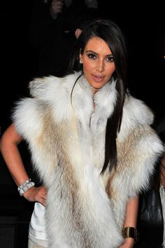 Kim Kardashian Photos - Kim Kardashian attends the Kanye West  Ready-To-Wear Fall/Winter 2012 show as part of Paris Fashion Week at Halle Freyssinet on March 6, 2012 in Paris, France. - Kanye West Show : Front Row at Paris Fashion Week