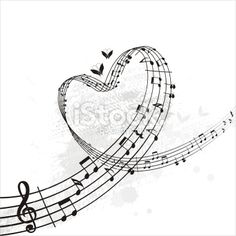 music from heart banner Royalty Free Stock Vector Art Illustration