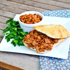 """Carolina Pulled """"Pork"""" Sandwich - for our annual party. A pulled pork made from jack fruit - completely vegan! Jackfruit Pulled Pork, Jackfruit Sandwich, Vegan Pulled Pork, Jackfruit Recipes, Pork Sandwich, Vegan Sandwiches, Veggie Recipes, Whole Food Recipes, Kitchens"""
