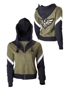 The Legend of Zelda Girls Hoodie - Green/Black: Image 11 The Legend Of Zelda, Hooded Sweater, Hooded Jacket, Hooded Sweatshirts, Hoodies, Kinds Of Clothes, Other Outfits, Casual, Zip Ups