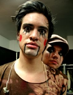 Brendon Urie and Ryan Ross- Marionette makeup