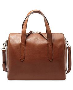 Go for a class cognac satchel from Fossil. The cross body strap makes in practical for living your busy lives.