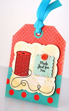 Personalize a tag with the Fiskars Fuse Creativity System and this adorable idea from designer Valerie Salmon.