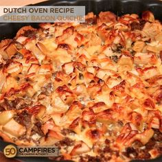 Dutch Oven Bacon Quiche - 50 Campfires