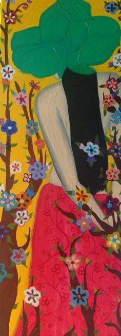 Flores Samurais. Óleo s/ tela. Maio 2014