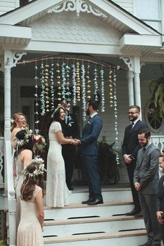 Beautiful Backyard Weddings (At Real Homes Just Like Yours) Backyard At-Home Wedding Inspiration Wedding Ceremony Ideas, Wedding Reception Backdrop, Best Wedding Venues, Ceremony Backdrop, Wedding Events, Small Wedding Receptions, Outdoor Weddings, Wedding Games, Wedding Planning