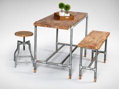 ... galvanised dojo sidechair galvanised pipe bar table pipe bar bench