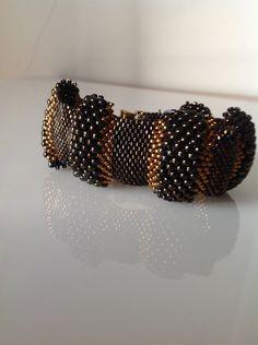 Beabed bracelet,bracelet for women,black and bronze bracelet,birthday gift ,bracelet for women,women's jewelry,birthday gift,jewelry by PassionByMaya on Etsy