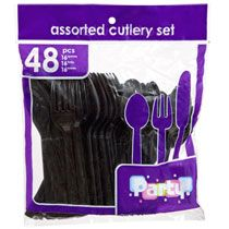 black utensils for cake