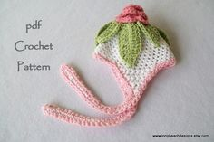 crochet pattern Baby Cabbage Rose hat 3 sizes by longbeachdesigns, $4.99