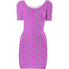 Pink Pattern Bodycon Dress from Print All Over Me