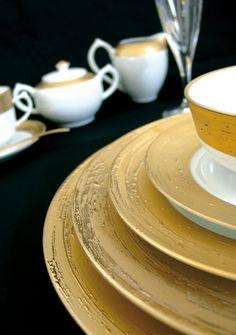 Porcel Auratus Dinnerware   Gracious Style