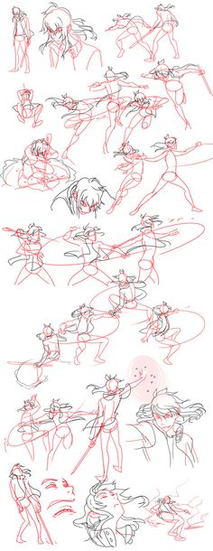 Manga Drawing Techniques Fight Sketches by Flipfloppery - Animation Reference, Drawing Reference Poses, Drawing Poses, Manga Drawing, Figure Drawing, Drawing Sketches, Drawing Hair, Anatomy Drawing, Posture Drawing