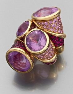Amethysts, rubies and pink diamonds