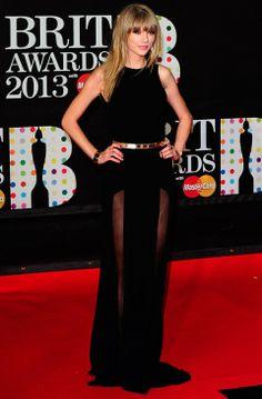 Taylor Swift in Elie Saab- BRIT Awards 2013