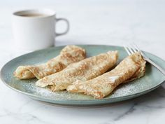 Crepes aren't just for fancy French bistros. Whether you like them sweet or savory, you can enjoy delicious crepes at home with these easy recipes. Alton Brown Crepes, Food Network Recipes, Cooking Recipes, Crepe Recipe Food Network, Crepe Batter, Savory Crepes, Crepe Recipes, Easy Crepe Recipe, Breakfast Recipes