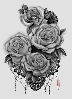 My rose and lace tattoo design thigh tat, beautiful pictures, piercings, tattoos, Rosen Tattoo Arm, Rosen Tattoos, Lace Tattoo Design, Tattoo Designs, Tattoo Ideas, Body Art Tattoos, New Tattoos, Sleeve Tattoos, Thigh Tattoos