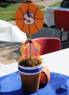 Basketball centerpeice for this years banquet maybe???