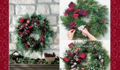 Készíts házilag karácsonyi koszorút