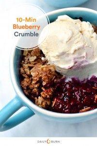 Blueberry Crumble Mug Cake Recipe