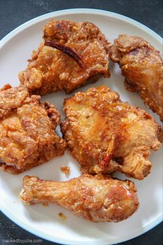 Crispy fried chicken tossed in a delicious honey butter sauce! This crunchy honey chicken will impress all of your friends and family. Fried Chicken Seasoning, Crispy Fried Chicken, Fried Chicken Recipes, Fried Chicken Drumsticks, Air Fryer Fried Chicken, Baked Chicken Legs, Crispy Chicken Wings, Chicken Gravy, Diet Recipes