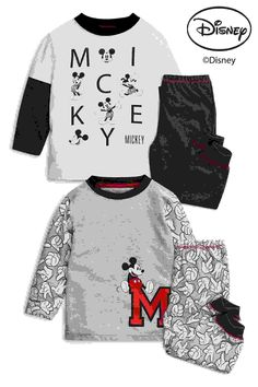 0e18567ad Buy Monochrome Mickey Mouse™ Pyjamas Two Pack from the Next UK online shop