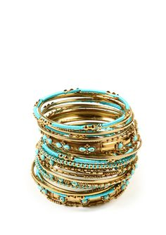 Turquoise --AMRITA SINGH Ashwarya Bangle Set--PRETTY