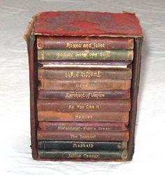 ❦ Books, Vintage, Miniature Books, Shakespeare, 1900