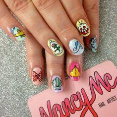 #TBT to @boldasbrasstattoo's Disney Princess Charity Day last year  #nancymcnails #nailart #nails #disneynails #princess  (at facebook.com/nancymcnails)