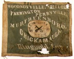Flag of the 3rd Confederate Infantry. Holy goodness it actually has Ringgold Gap and Chickamauga on it!!