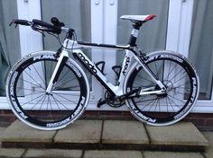 Moda Sharp Carbon Fibre TT Time Trial Triathlon Bike Planet X Carbon Wheels