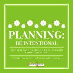 Why Plan for Your Program? — ChildCareInfo.com