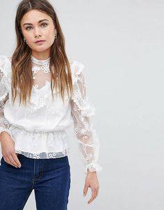 cd1dd061f74a Boohoo Lace Detail Top Going Out Tops, Asos, Lace Detail, Fashion Pictures,