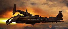 concept ships: Spaceship concept art by Francis Tsai