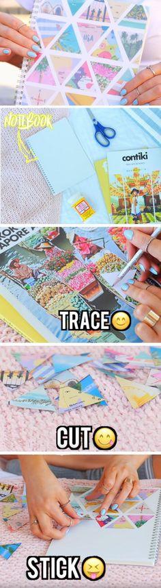Collage Notebook | DIY School Supplies for Teens Highschool