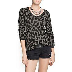 Mango Sweater Leopardo Gris